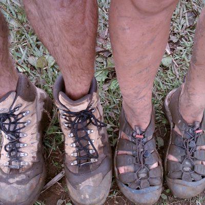 A good day, muddy feet