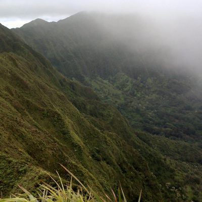Ridgeline, backside of crater