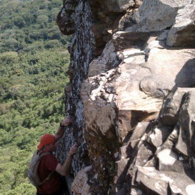 Climbing to third peak